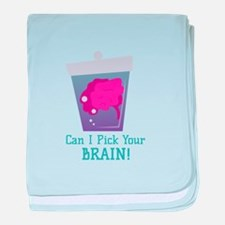 Pick Brain baby blanket