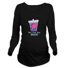 Pick Brain Long Sleeve Maternity T-Shirt