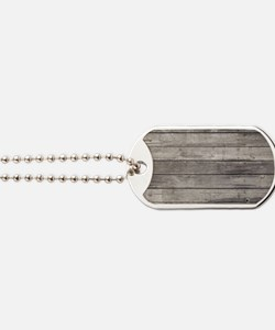 Old Wood Planks Dog Tags