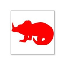 Baby Triceratops Silhouette (Red) Sticker