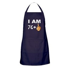 Middle Finger 77th Birthday Apron (dark)