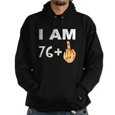 Middle Finger 77th Birthday Hoodie