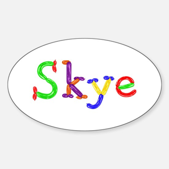 Skye Balloons Oval Decal