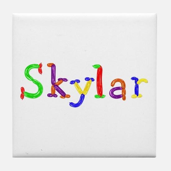 Skylar Balloons Tile Coaster