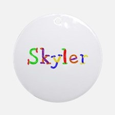 Skyler Balloons Round Ornament