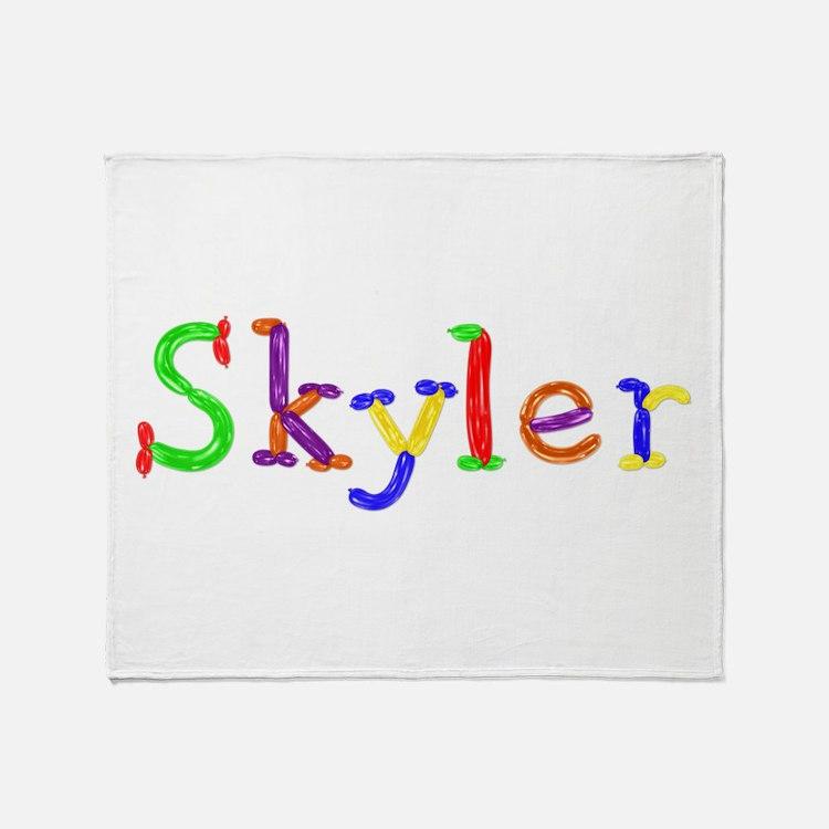 Skyler Balloons Throw Blanket