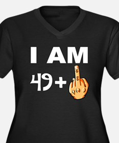 Middle Finger 50th Birthday Plus Size T-Shirt