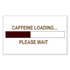 CAFFEINE LOADING... Rectangle Decal