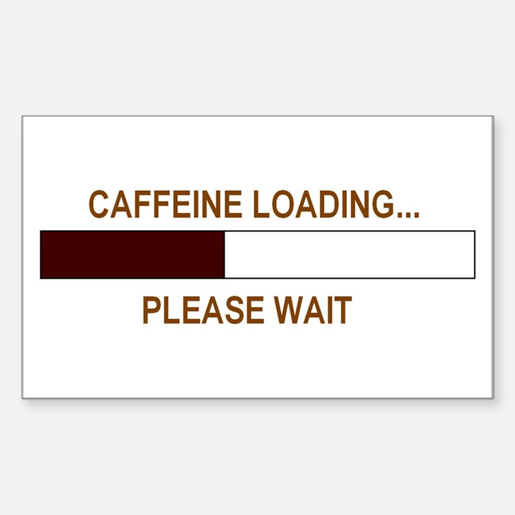 CAFFEINE LOADING... Rectangle Decal