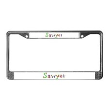 Sawyer Balloons License Plate Frame