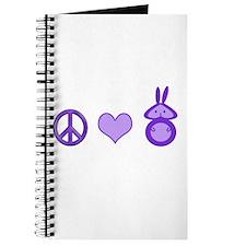 Peace,Love&Bunnies Journal