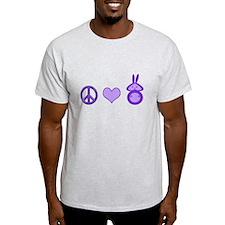 Peace,Love&Bunnies T-Shirt