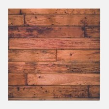 Old Wood Planks Tile Coaster