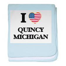 I love Quincy Michigan baby blanket