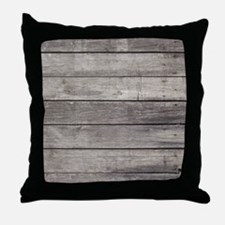Old Wood Planks Throw Pillow