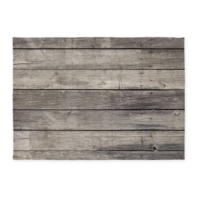 Old Wood Planks 5'x7'Area Rug By WickedDesigns4