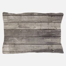 Old Wood Planks Pillow Case