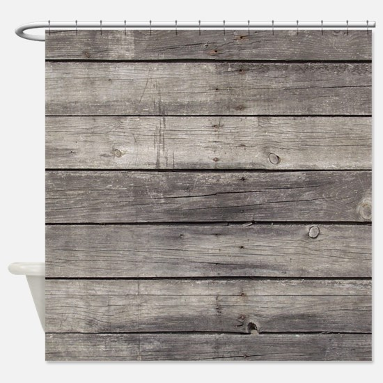 Old Wood Planks Shower Curtain