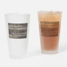 Old Wood Planks Drinking Glass