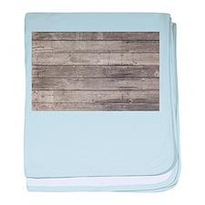 Old Wood Planks baby blanket