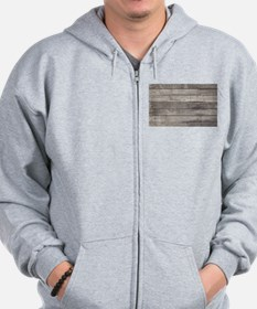 Old Wood Planks Zip Hoodie