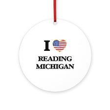I love Reading Michigan Ornament (Round)