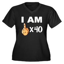 I Am Middle Finger Times 40 Plus Size T-Shirt