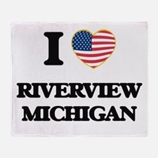 I love Riverview Michigan Throw Blanket