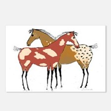 Two Horse Appaloosa & Paint Design Postcards (Pack