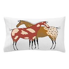 Two Horse Appaloosa & Paint Design Pillow Case