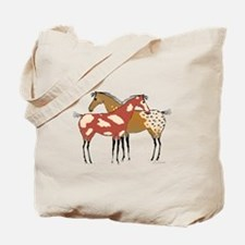 Two Horse Appaloosa & Paint Design Tote Bag