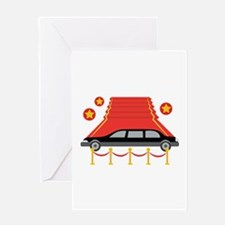 Red Carpet Limo Greeting Cards