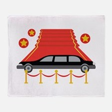 Red Carpet Limo Throw Blanket
