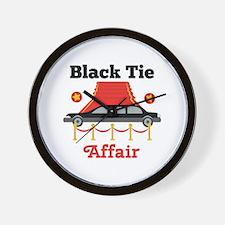 Black Tie Affair Wall Clock