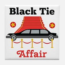 Black Tie Affair Tile Coaster
