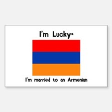 Married to an Armenian Rectangle Decal