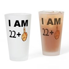 Middle Finger 23rd Birthday Drinking Glass