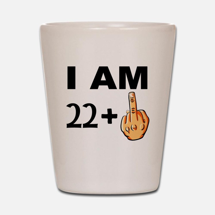 Middle Finger 23rd Birthday Shot Glass