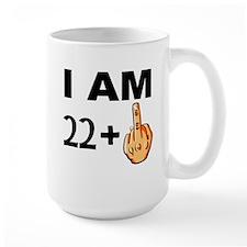 Middle Finger 23rd Birthday Mugs
