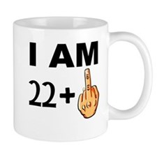 Middle Finger 23rd Birthday Mugs