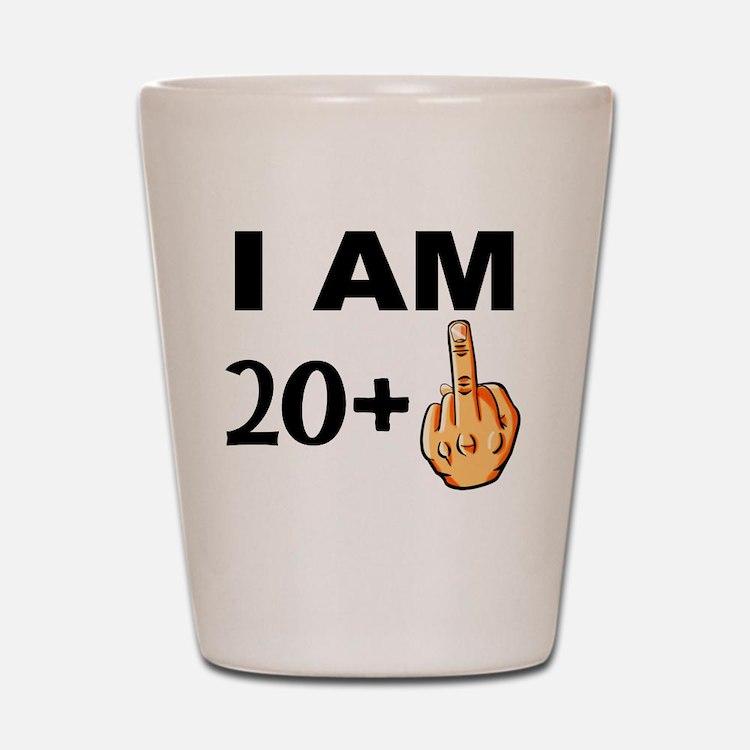 Middle Finger 21st Birthday Shot Glass
