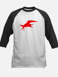 Pterodactylus Silhouette (Red) Baseball Jersey