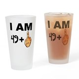 49 plus middle finger Pint Glasses