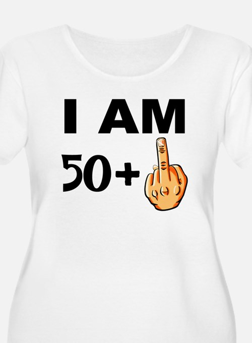 Middle Finger 51st Birthday Plus Size T-Shirt