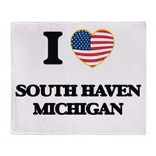 I love South Haven Michigan Throw Blanket