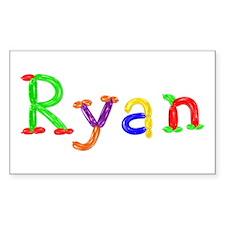 Ryan Balloons Rectangle Sticker 10 Pack