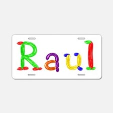 Raul Balloons Aluminum License Plate