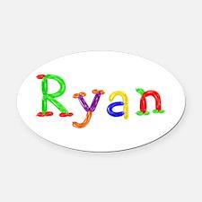 Ryan Balloons Oval Car Magnet