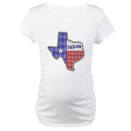 Plaid Texas Maternity T-Shirt