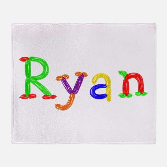 Ryan Balloons Throw Blanket